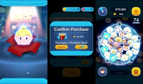 Premium boxes allow players the chance of winning popular and powerful characters such as Tinker Bell, Maleficent, and Elsa.