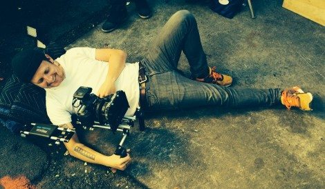 [Scott Ballard, DP, on set. Photo Compliments of Bricker-Down Productions]