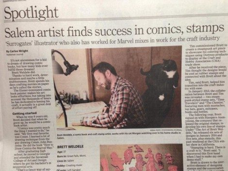 Brett was featured in the local paper.