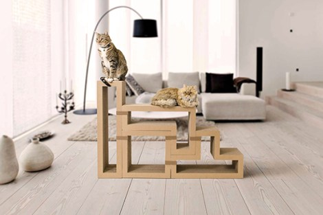 Katris, the best cat furniture invention probably ever. [HausPanther]