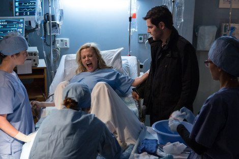 """GRIMM -- """"The Grimm Identity"""" Episode 501 -- Pictured: (l-r) Claire Coffee as Adalind, David Giuntoli as Nick Burkhardt -- (Photo by: Scott Green/NBC)"""
