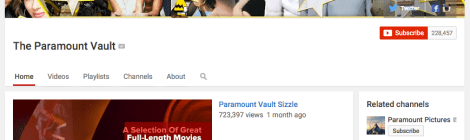 The Paramount Vault Brings A Bunch of Full Movies to YouTube - For Free!