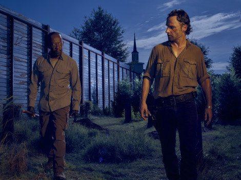 Lennie James as Morgan and Andrew Lincoln as Rick Grimes - The Walking Dead _ Season 6, Gallery - Photo Credit: Frank Ockenfels 3/AMC