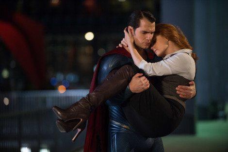 Save me from poorly interpreted supervillains, Superman. [Warner Bros.]
