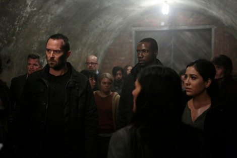 BLINDSPOT -- Episode 111 -- Pictured: (l-r) Sullivan Stapleton as Kurt Weller, Rob Brown as Reade, Audrey Esparza as Zapata -- (Photo by: Giovanni Rufino/NBC)