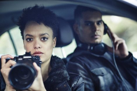 """HUNTERS -- """"The Beginning & The End"""" Episode 101 -- Pictured: Britne Oldford as Allison Regan -- (Photo by: Ben King/Syfy)"""