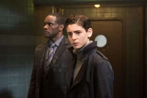 """GOTHAM: L-R: Chris Chalk and David Mazouz in the """"Wrath of the Villains: A Legion Of Horribles"""" episode of GOTHAM airing Monday, May 16 (8:00-9:00 PM ET/PT) on FOX. ©2016 Fox Broadcasting Co. Cr: Jeff Neumann/FOX"""