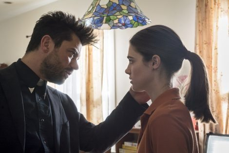 Dominic Cooper as Jesse Custer, Lucy Griffiths as Emily - Preacher _ Season 1, Episode 3 - Photo Credit: Lewis Jacobs/Sony Pictures Television/AMC