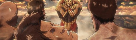 Reiner charges head-on through titan mob