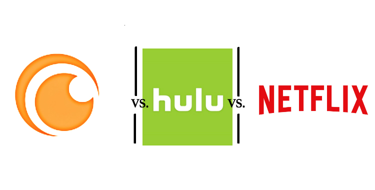 Crunchyroll vs. Hulu vs. Netflix