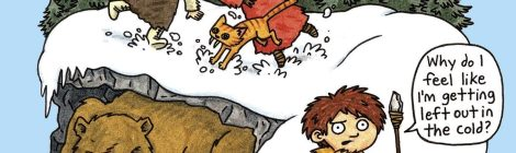Lucy & Andy Neanderthal Tackle the Cold (and Cave Bears) in Their Latest Adventure, 'The Stone Cold Age'