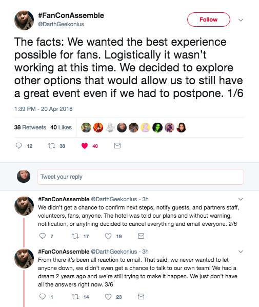 Universal Fancon Postponed