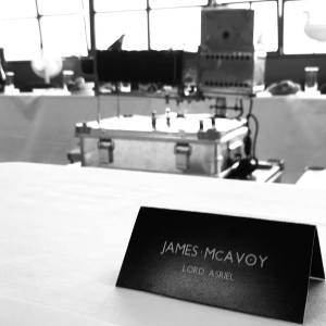 James McAvoy sul set di Queste oscure materie