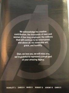 Stan Lee, il tributo dei sei Avengers originali del MCU