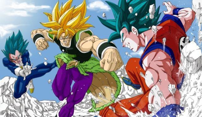Goku e Vegeta vs Broly Super Saiyan