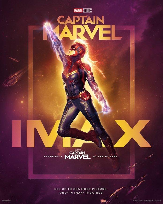 Captain Marvel con Brie Larson