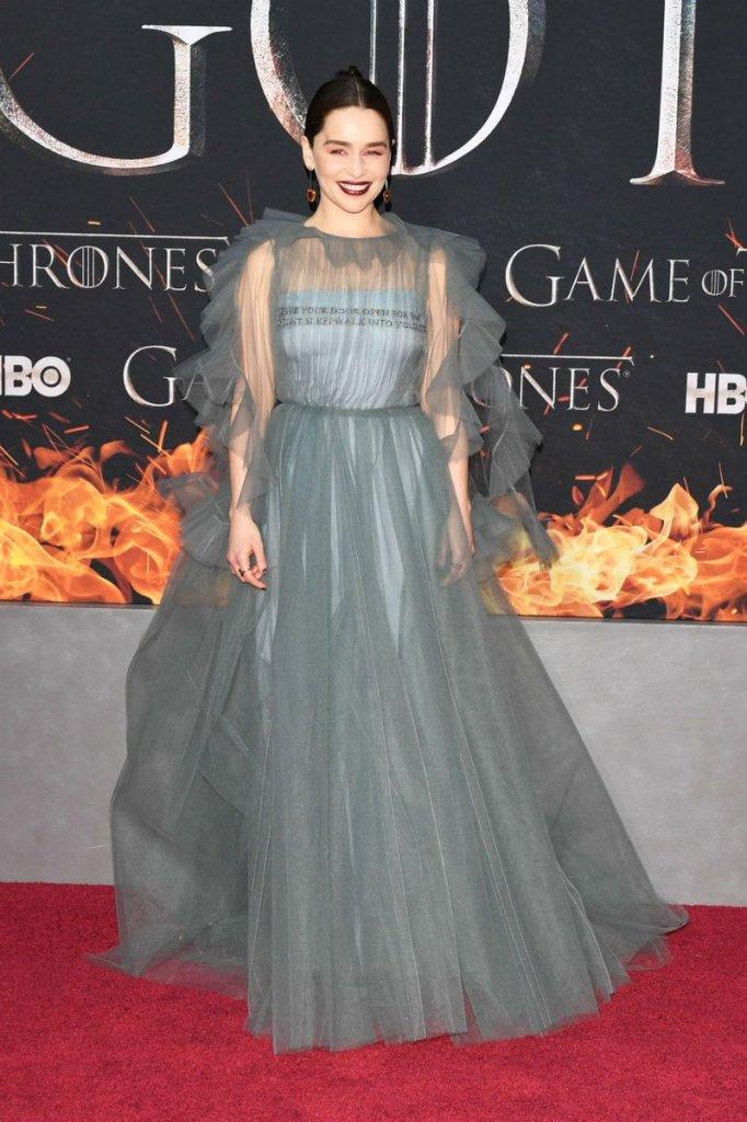 emilia clarke dress vestito premiere NY