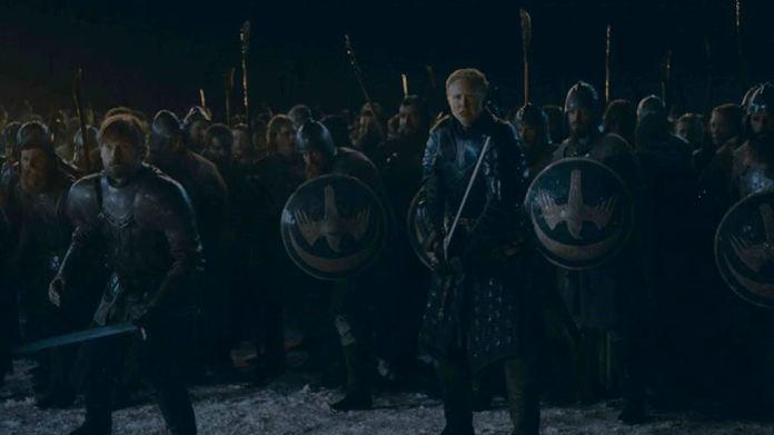 Brienne e Jaime pronti alla battaglia