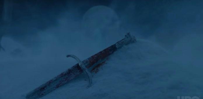 Lungo Artiglio, la spada di Jon Snow (Credits: HBO)