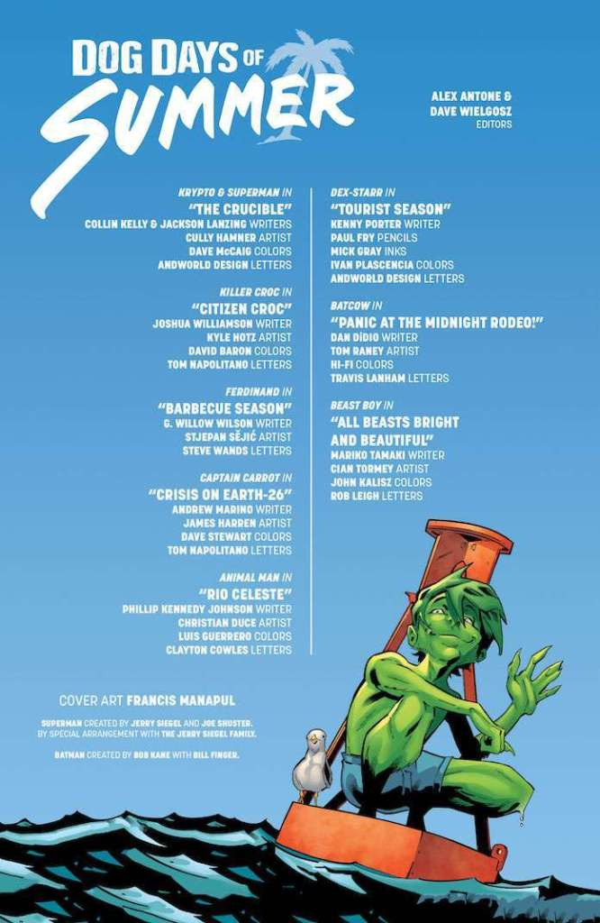 dc comics Dog Days of Summer #1 superman krypto killer croc