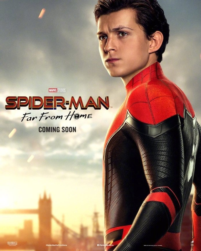 Spider-Man: Far From Home sony poster peter parker