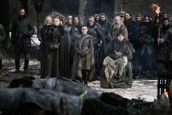 Arya, Bran, Sansa, il Mastino e Davos