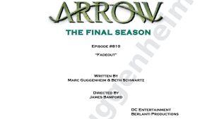 Arrow 8: svelato il titolo dell'episodio finale e le ultime parole della sceneggiatura