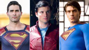 Crisi sulle Terre Infinite: due Superman e due Clark Kent dalle foto sul set del crossover
