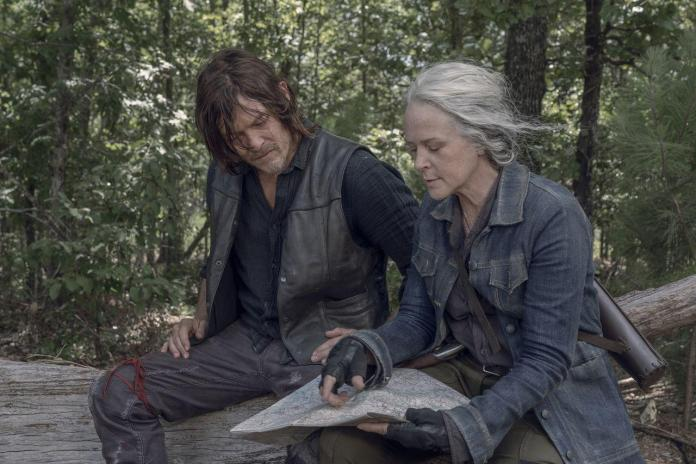 Melissa McBride (Carol Peletier), Norman Reedus (Daryl Dixon) - Photo Credit: Jace Downs/AMC