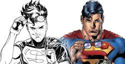 Superboy cita Superman sulla cover di Young Justice #15