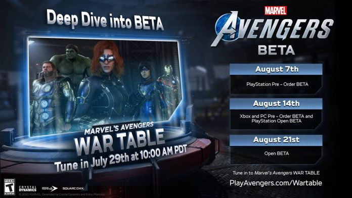 marvel's avengers date beta