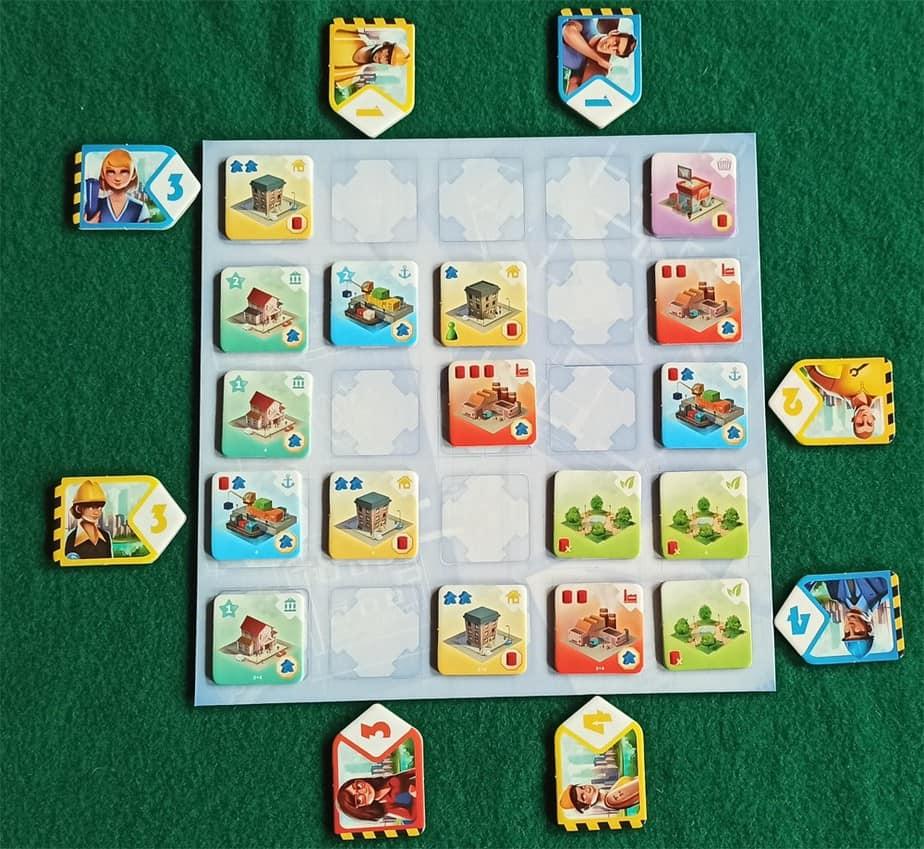 Situazione di gioco Quadropolis