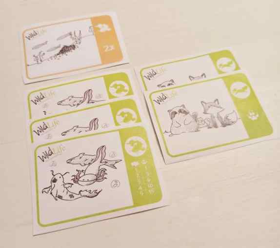 Wild Life The Card Game animali