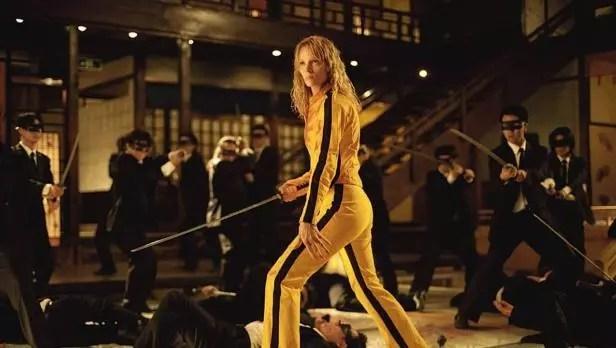 Kill Bill - Uma Thurman sul set