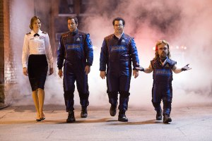 Michelle Monaghan, Adam Sandler, Josh Gad and Peter Dinklage in Pixels