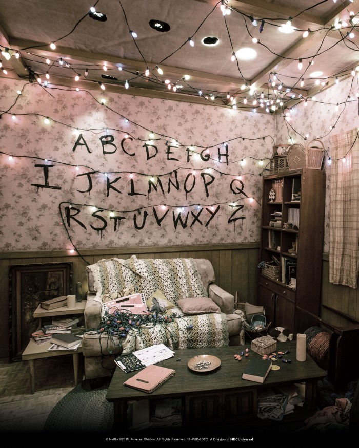 "The Byers home living room within the ""Stranger Things"" Maze. Image courtesy of Universal Studios Hollywood."