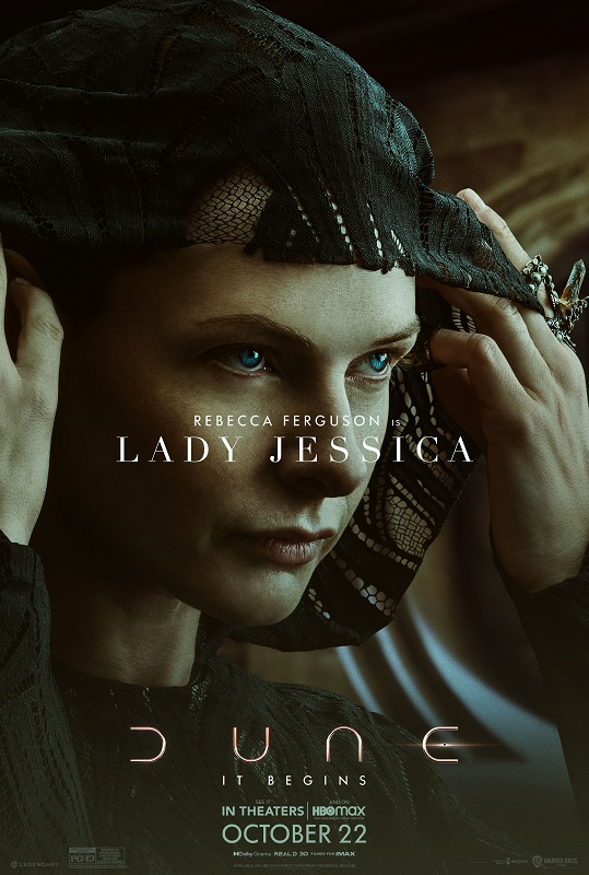 Dune character poster featuring Rebecca Ferguson as Lady Jessica