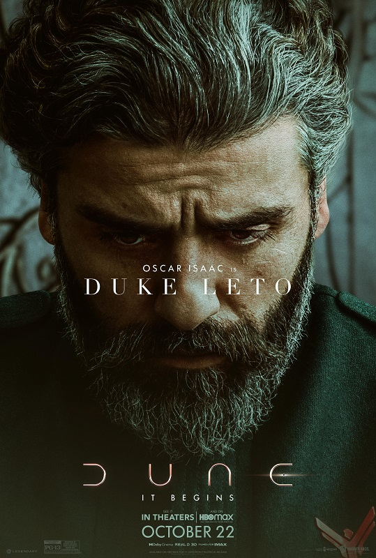 Dune character poster featuring Oscar Isaac as Duke Leto