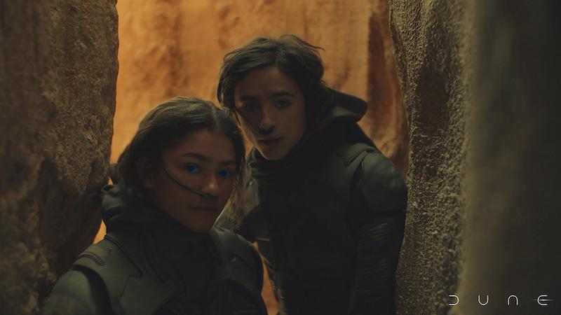 Zendaya and Timothée Chalamet in Dune