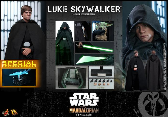 Hot Toys Luke Skywalker Figure with Accessories Pictured