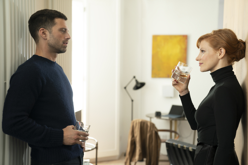 Sebastian Stan and Jessica Chastain in The 355