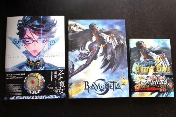 Bayonetta Artbook, Bayonetta Prima Guide und Bayonetta Climax Bible im Vergleich
