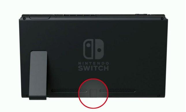 Nintendo Switch USB-C Anschluss Rückseite