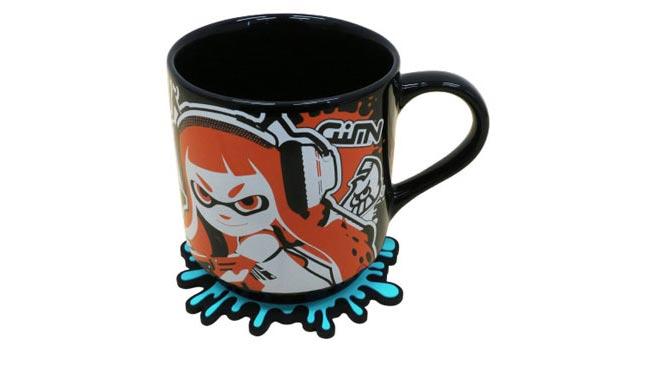 Splatoon Merchandise Tasse mit Untersetzer