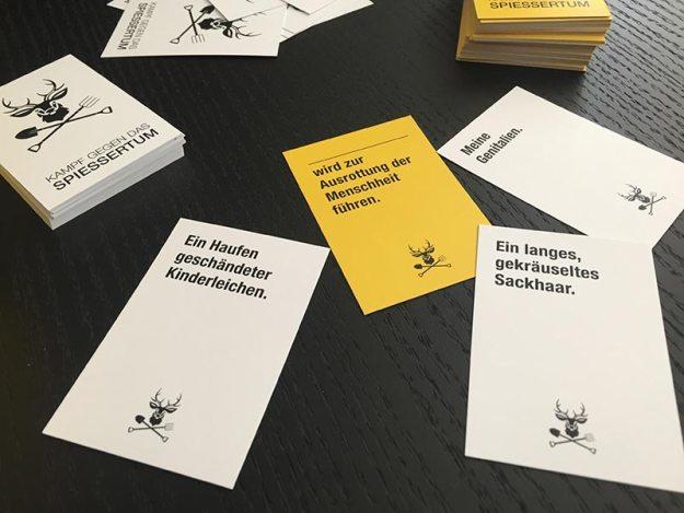 Kampf gegen das Spießertum Kickstarter Projekt