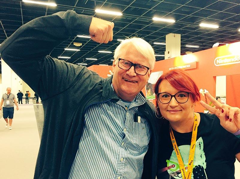 Meeting Charles Martinet at Gamescom