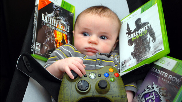 gaming video games baby infant parenting
