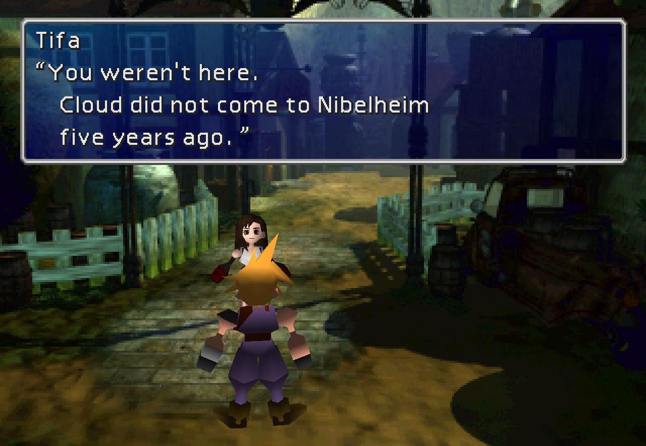 Final Fantasy VII Nibelheim Tifa Cloud