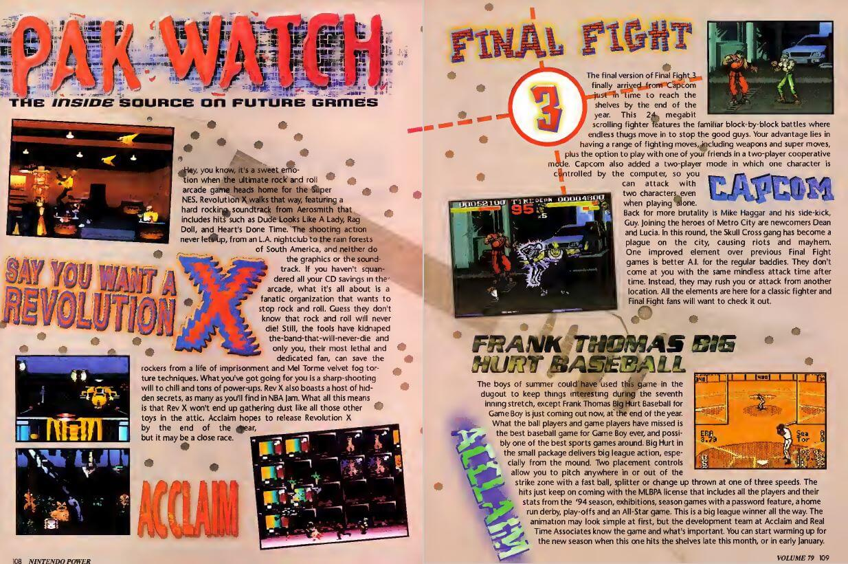 Pak Watch, Nintendo Power Issue 79, December 1995