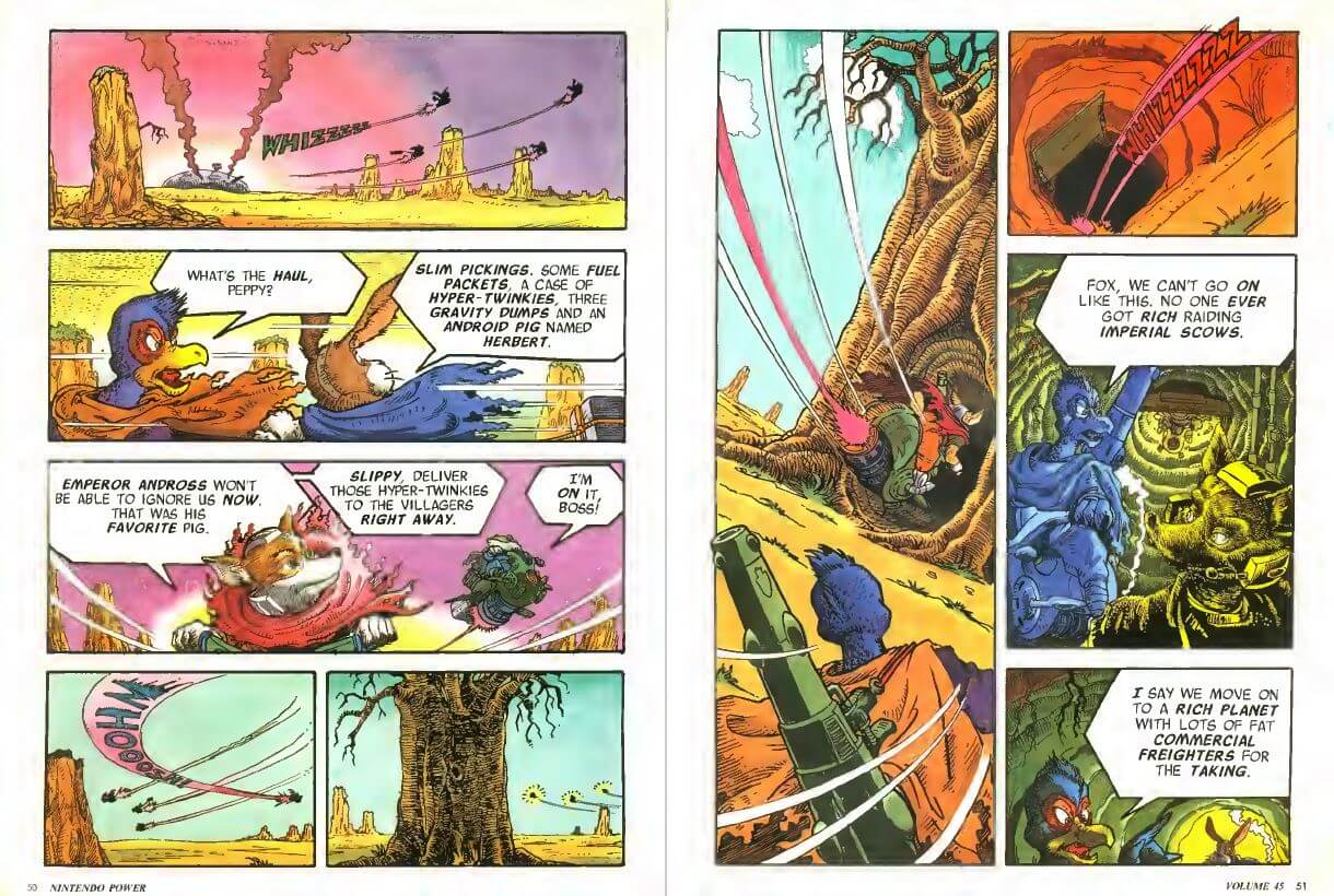 Star Fox Comic. Nintendo Power Issue 45, February 1993